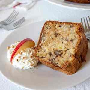 Honeycrisp Apple-Pecan Pound Cake with Caramel Glaze (for 1+)