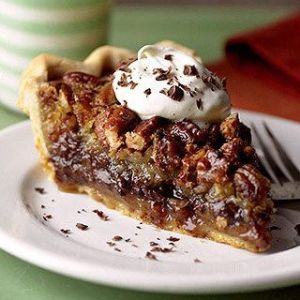 Kentucky Bourbon Pie with Pecans and Chocolate Chips (for 1)