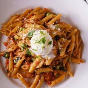 Lamb Ragu with Penne, Molto Marinara, and Herb Mascarpone Cheese (FAMILY STYLE, for 4+)
