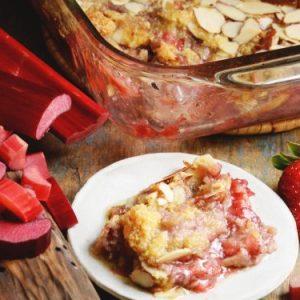 Strawberry Rhubarb Cobbler (for 2)