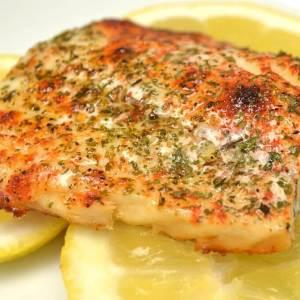 Broiled Haddock, Lemon-Garlic Butter, Olathe Corn Risotto (for 1)
