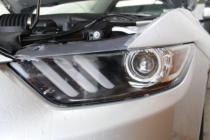 mustang ppf headlight