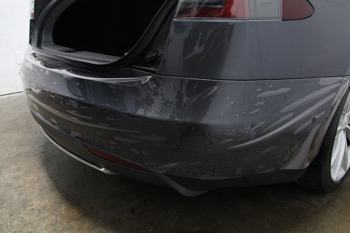 Tesla rear bumper