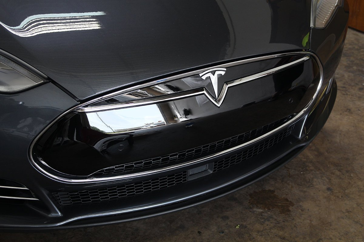 Tesla nose cone after