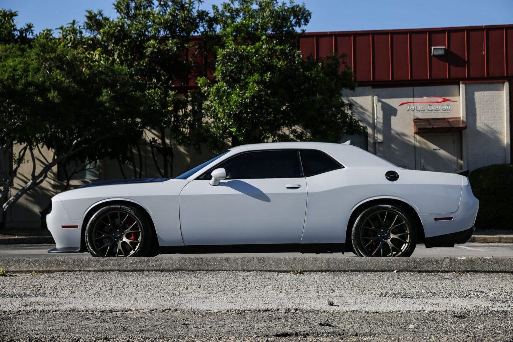 Hellcat Gets Custom Paint Protection with Suntek PPF & CQuartz Finest Reserve 6