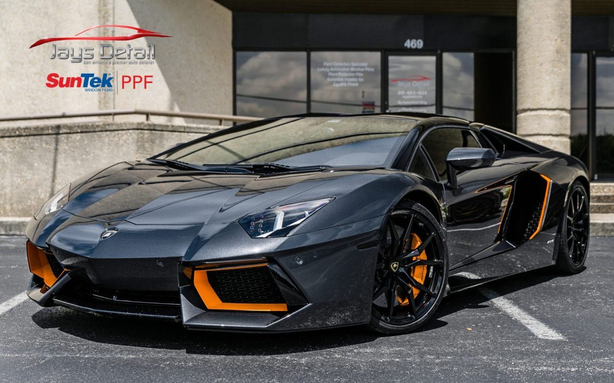 Lamborghini Aventador Perfectly Protected with SunTek Ultra PPF 12