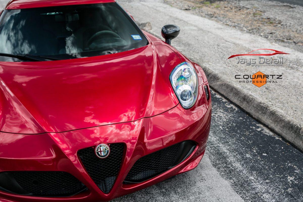 Alfa Romeo 4C's Beauty Shines Through with Cquartz Professional