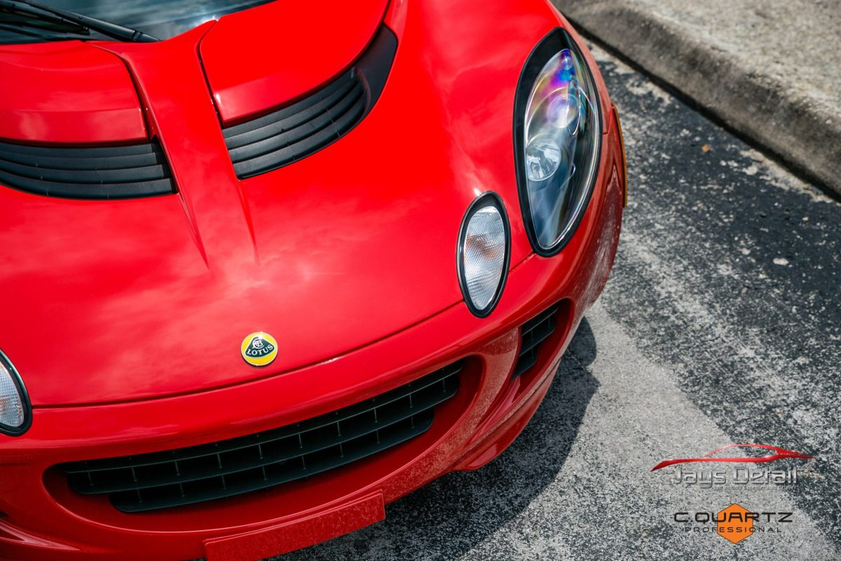 Lotus Elise Needs Mid-Life Facelift with Clear Bra Removal & Replacement - Paint Protection Film Removal San Antonio, Texas