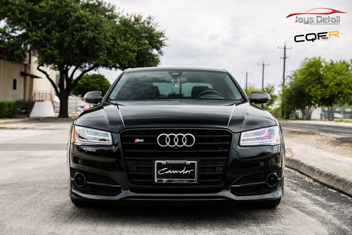 Black Audi S8's Finish Resurrected & Protected with SunTek & Cquartz