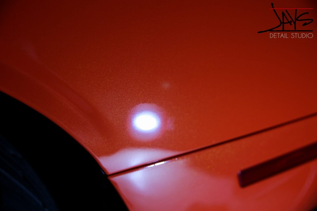 Go Mango Hellcat Challenger Gets Paint Corrected & Protected - Paint Corrected and Paint Protection in San Antonio, Texas 8