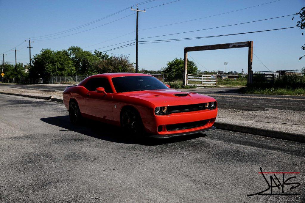 Go Mango Hellcat Challenger Gets Paint Corrected & Protected - Paint Corrected and Paint Protection in San Antonio, Texas 13