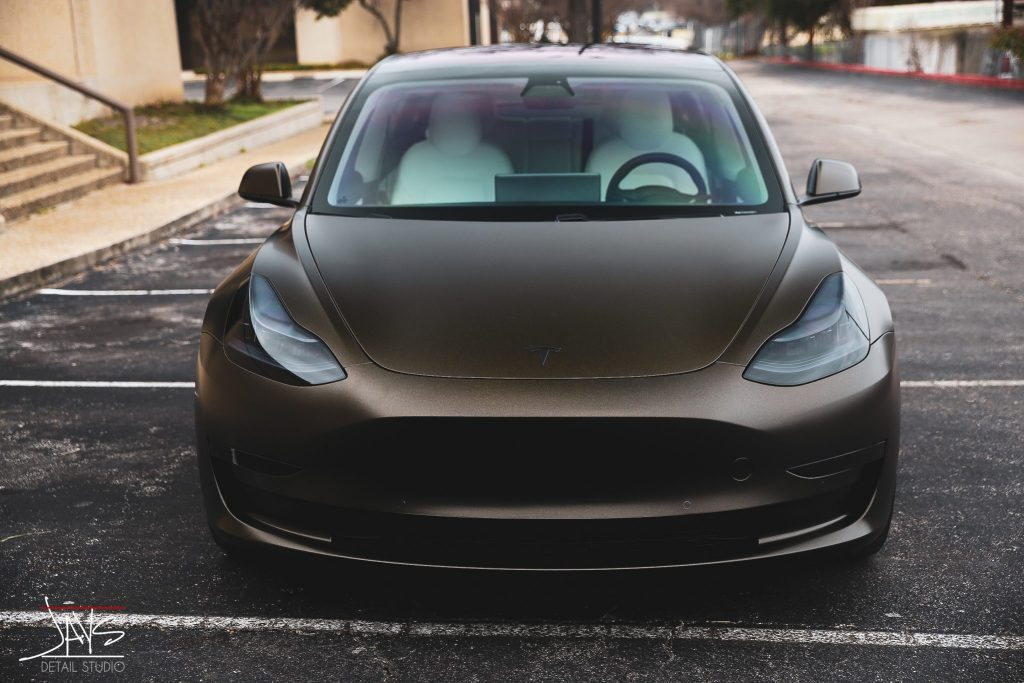 M Crystalline Window Tint and Vehicle Wrap Transform this Tesla Model 3 - Window Tinting, Vehicle Wrap and Ceramic Vehicle Coating in San Antonio and Austin, Texas 11