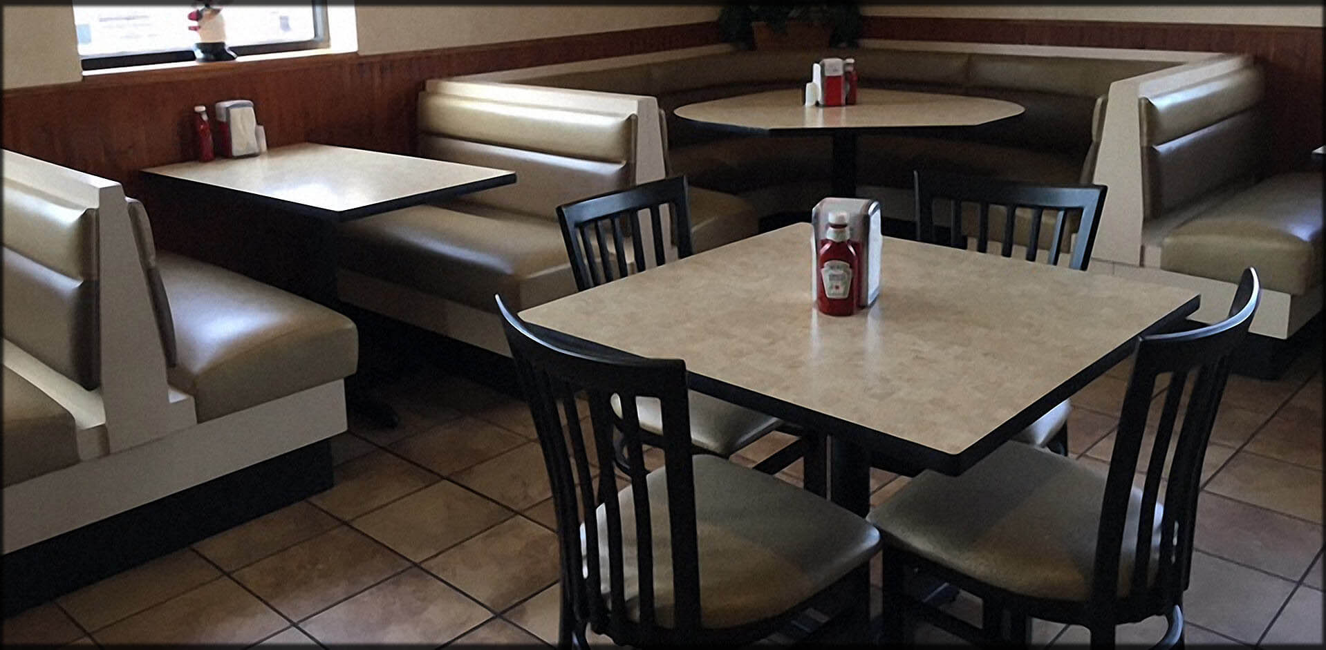 Restaurant Furniture Seating; Commercial Booths, Custom