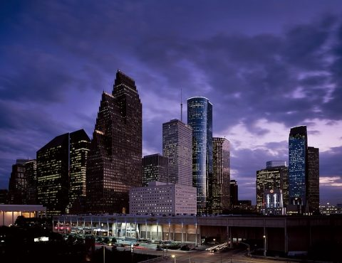 houston texas skyline commercial office buildings