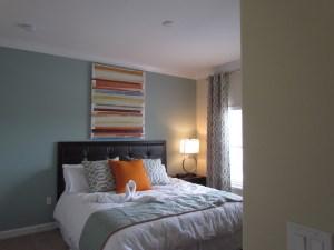 Sabal Palm Model bedroom at Storey Lake