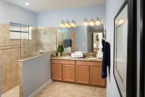 Sand Dollar Model Master Bathroom at ChampionsGate