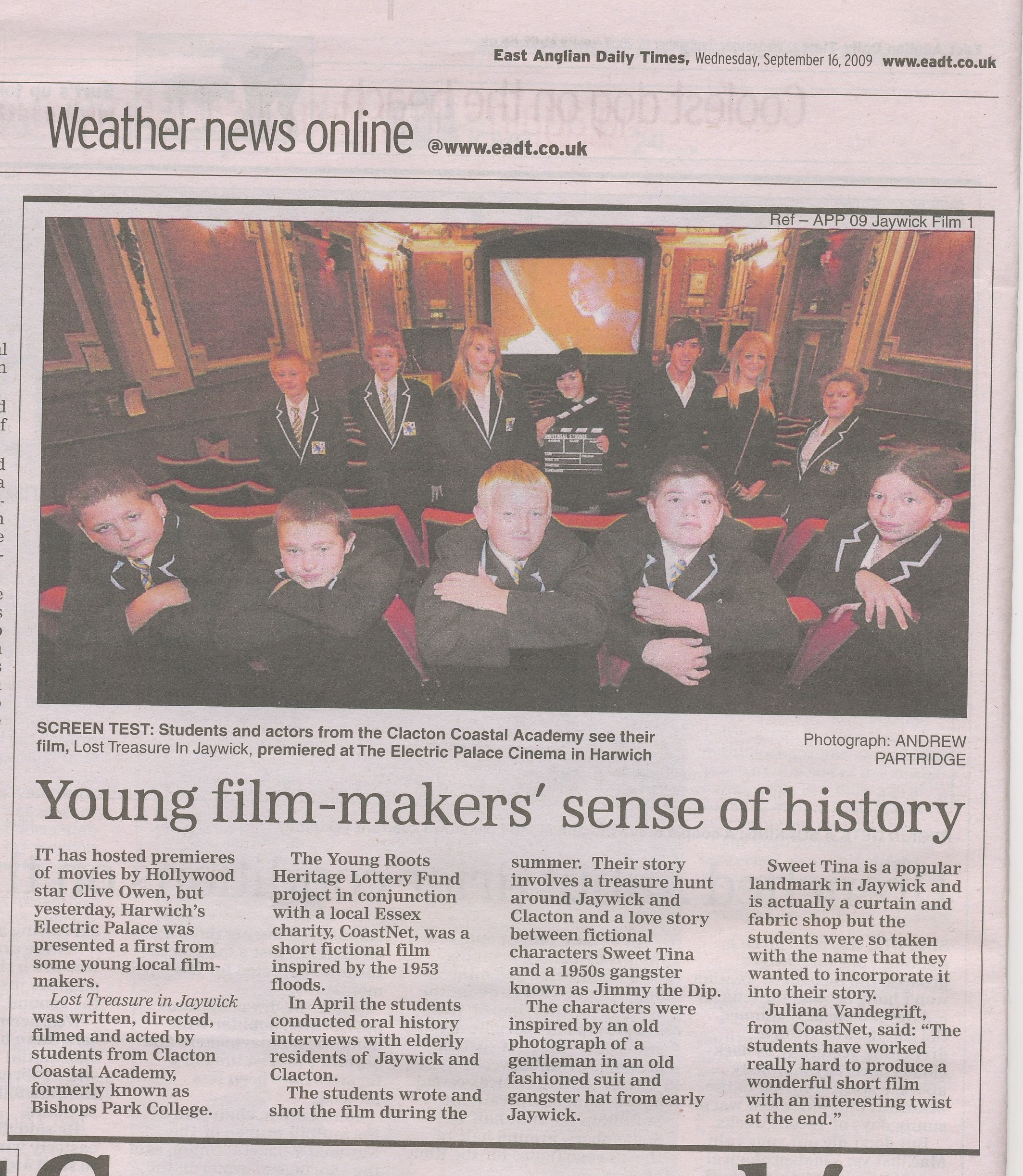 Film Premiere, Electric Palace, Harwich