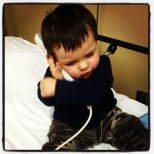 Thought to remote to the tv was phone, talking to Aunt Carlee