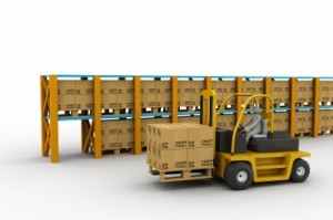stock with forklift