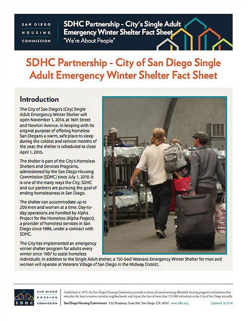 Adult Shelter Flyer