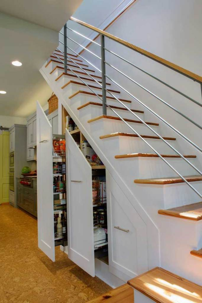 Slide Out Under Stairs Storage