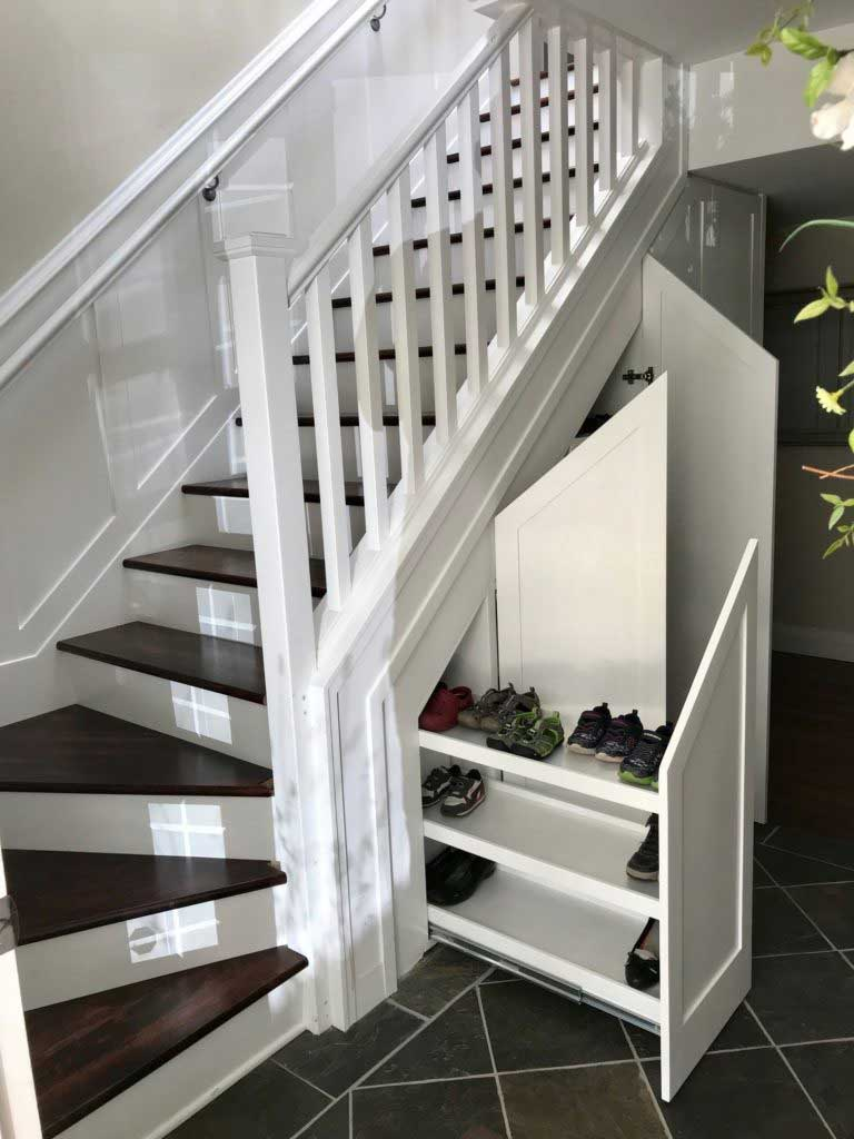 Under Stairs Shoes Storage