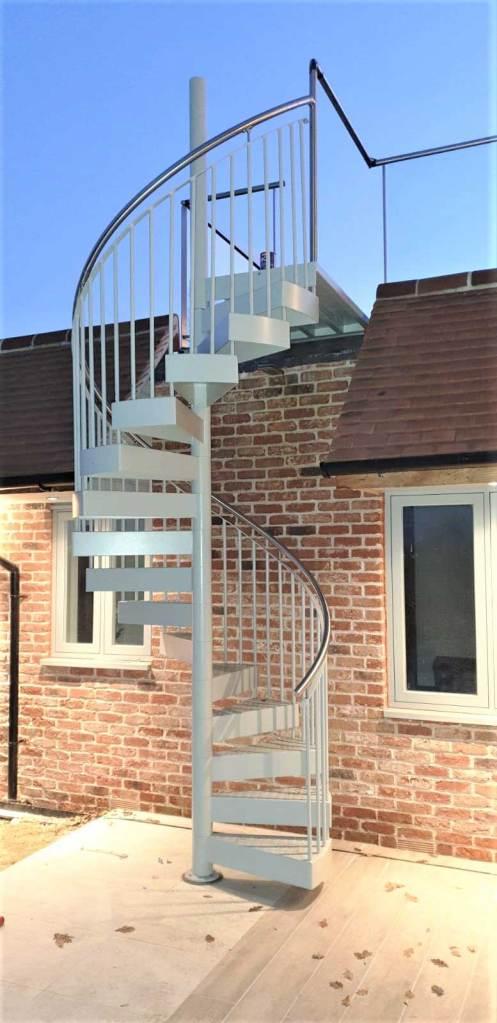 Galvanized Staircase