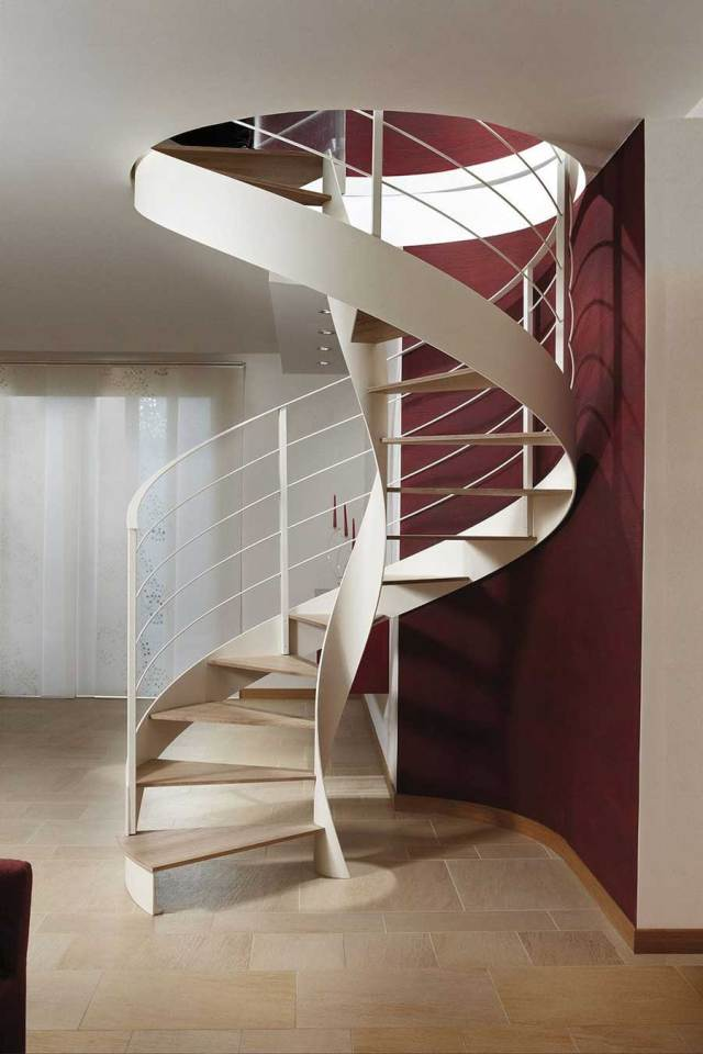 Types of Staircase; Spiral Stairs