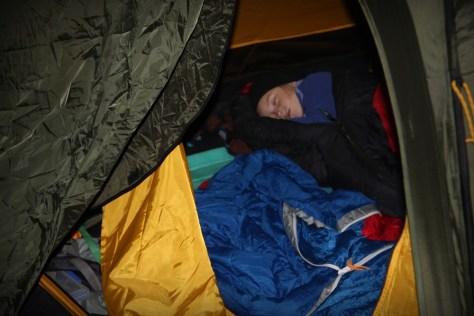 sen w namiocie