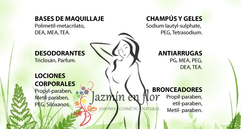 Tóxicos en la cosmética industrial Jazmín en flor