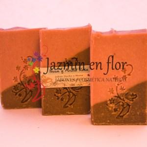 Jabón natural de Neem y Arcilla Rosa Jazmín en flor