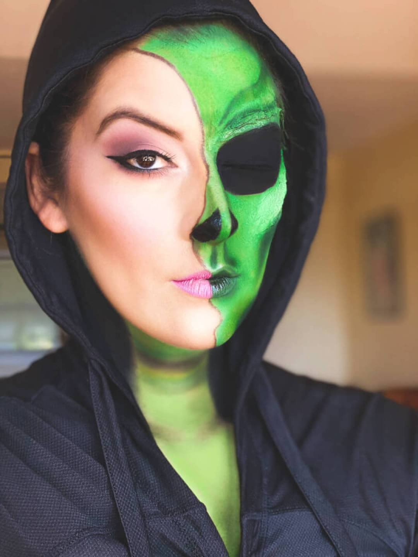 Half Face Alien Makeup