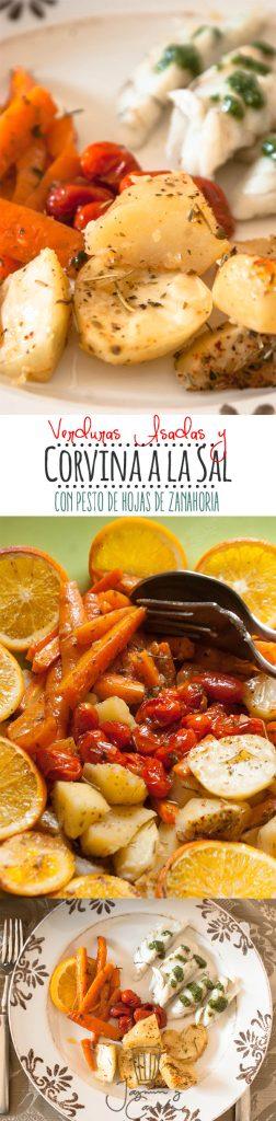 corvina a la sal con verduras y pesto de zanahoria largo pinterest
