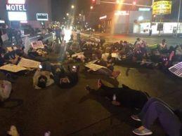 Charleston and Las Vegas Blvd. Intersection die-in
