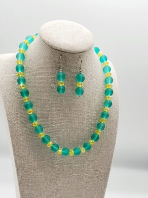 green and yellow necklace