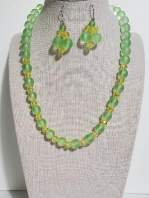Parrot Green Crystal African Set