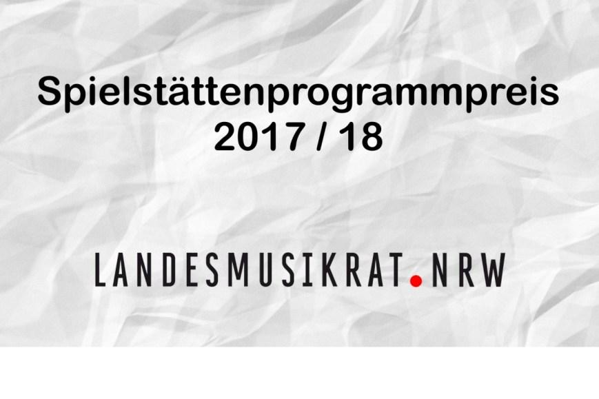 Spielstättenprogrammpreis 2017/18