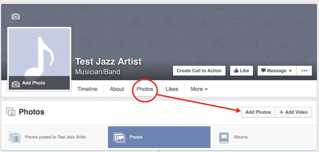 Facebook Artist Page