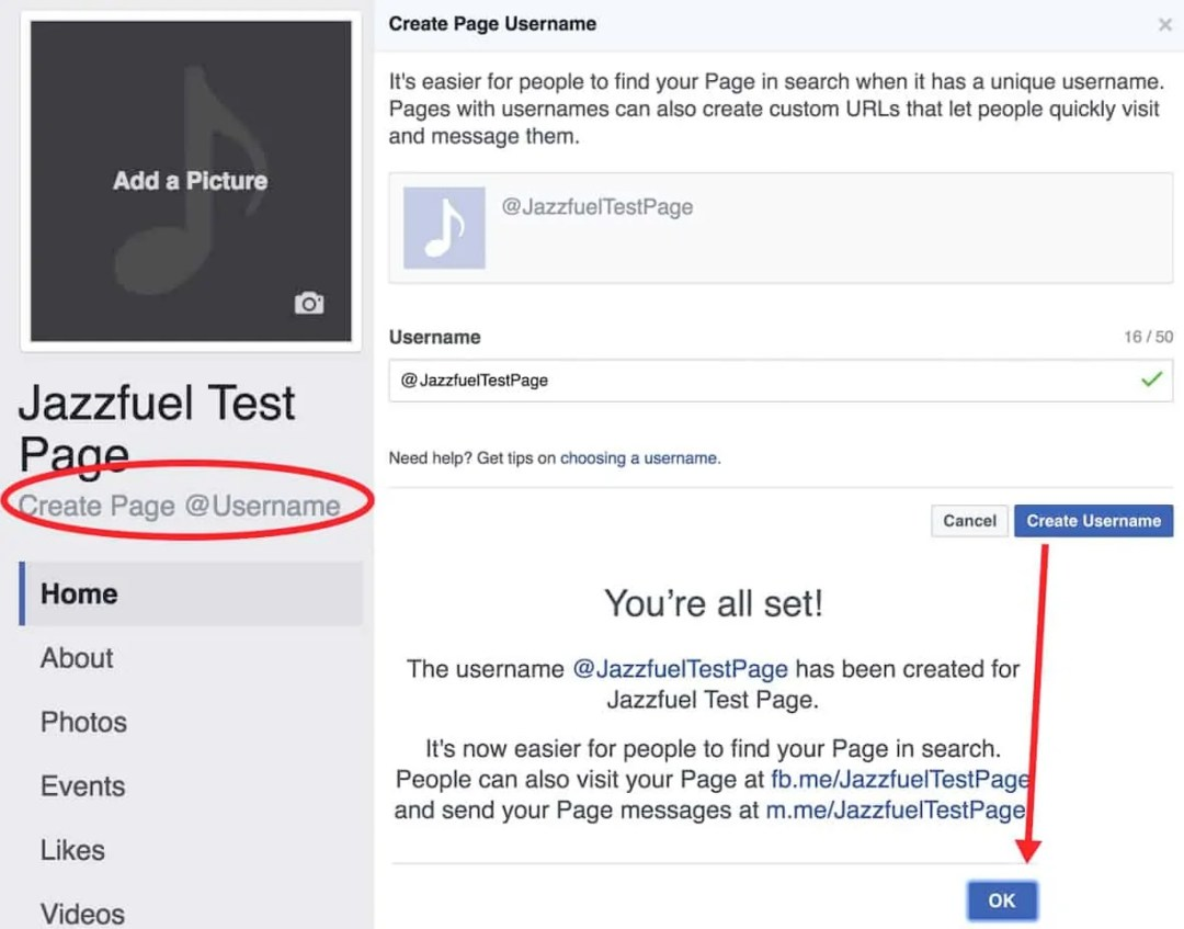 Create a URL for your Facebook Facebook Page