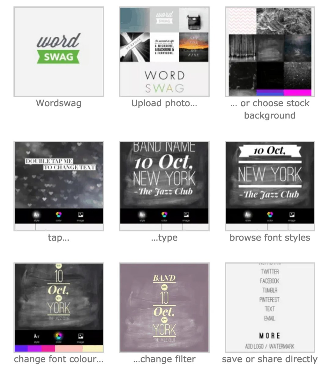 Wordswag for Facebook Boost