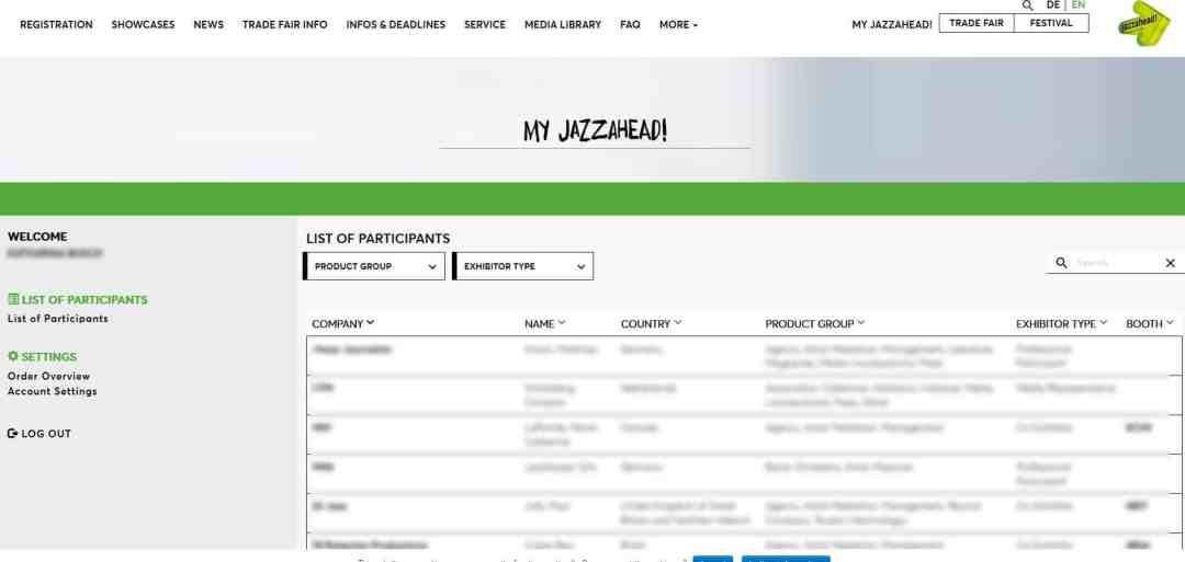 Jazzahead database