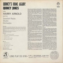 Quincy Jones With Harry Arnold And His Swedish Radio Studio Orchestra* ‎– Quincy's Home Again 1964 Columbia Records b