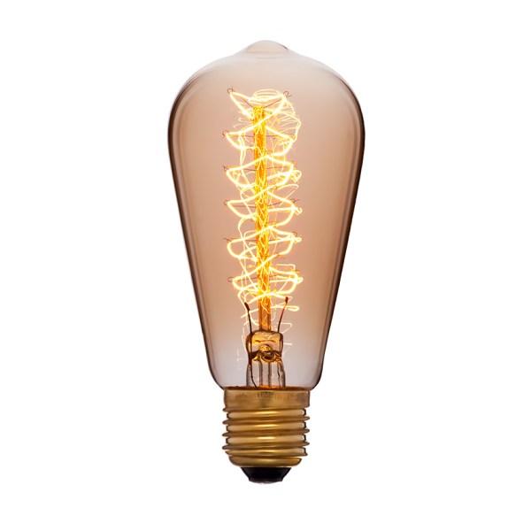 Грушевидная лампа Эдисона диаметром 5,8 сантиметра