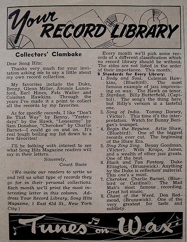 Do YOU have these records in your library?