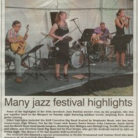 Jazz Notes makes the newspaper!