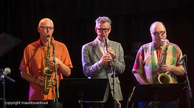 Antwerpen, 13 augustus 2016. ICP Orchestra tijdens Jazz Middelheim 2016.