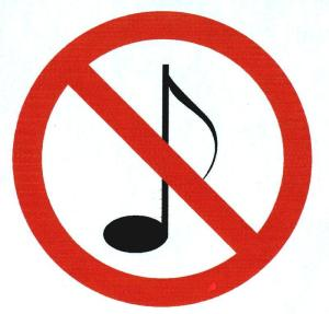 no music
