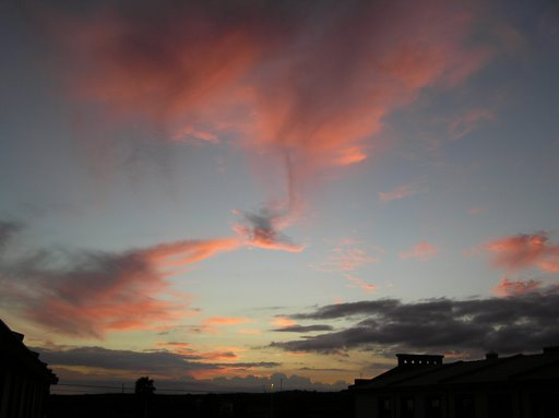Fallstreak Virga over my apartment, El Medano, Tenerife
