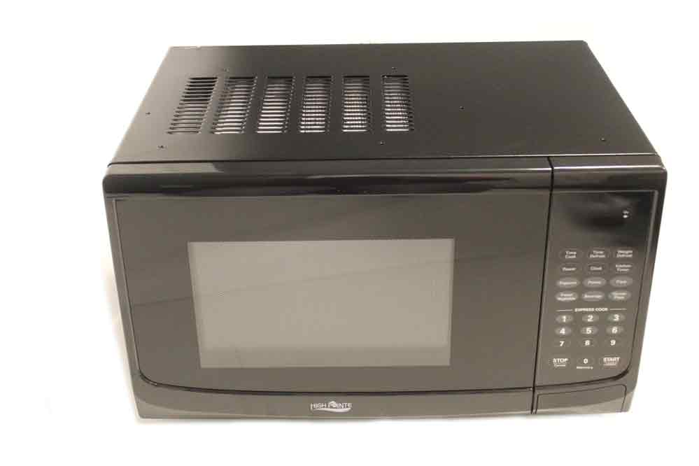 high pointe 900w microwave 1 cubic ft with trim kit black