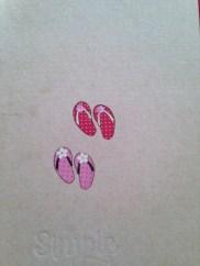 Rub-on sandels